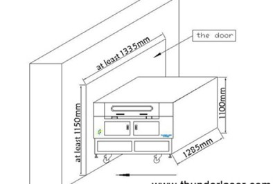 My door is too narrow (only 80CM wide), how to move the laser cutter into my house?